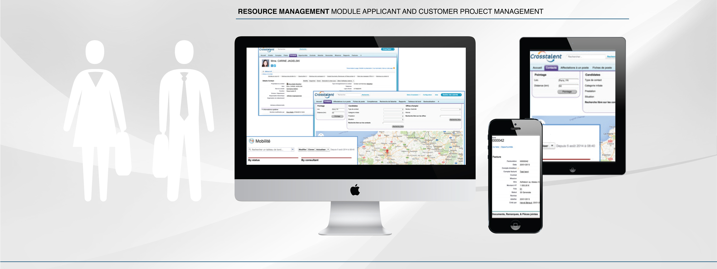 Screenshot Applicant & customer project management