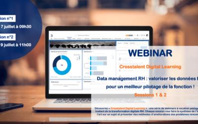 """Webinar – """"Data management RH : valoriser les données RH pour un meilleur pilotage de la fonction !"""" – Sessions 1 & 2"""