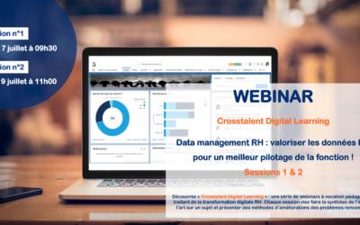 Webinar – «Data management RH : valoriser les données RH pour un meilleur pilotage de la fonction !» – Sessions 1 & 2
